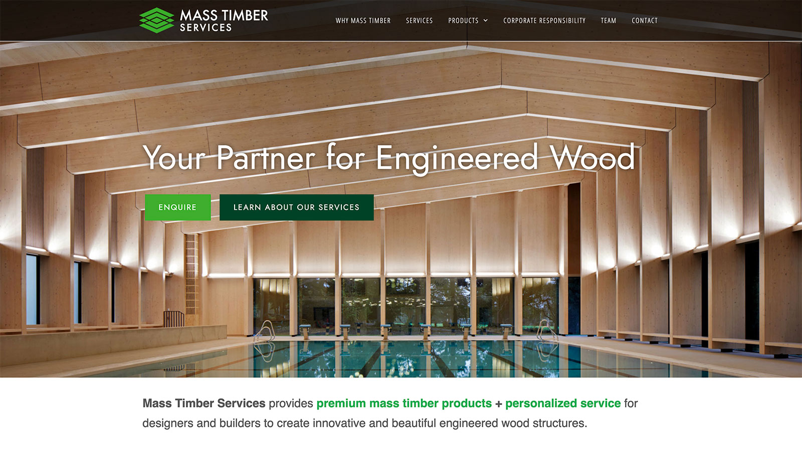 Mass Timber Web Design